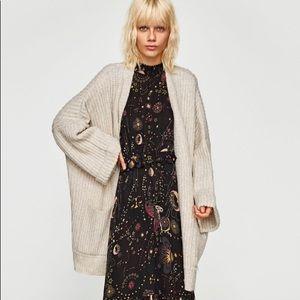 Zara chunky knit  oversized cardigan NWT Sz M